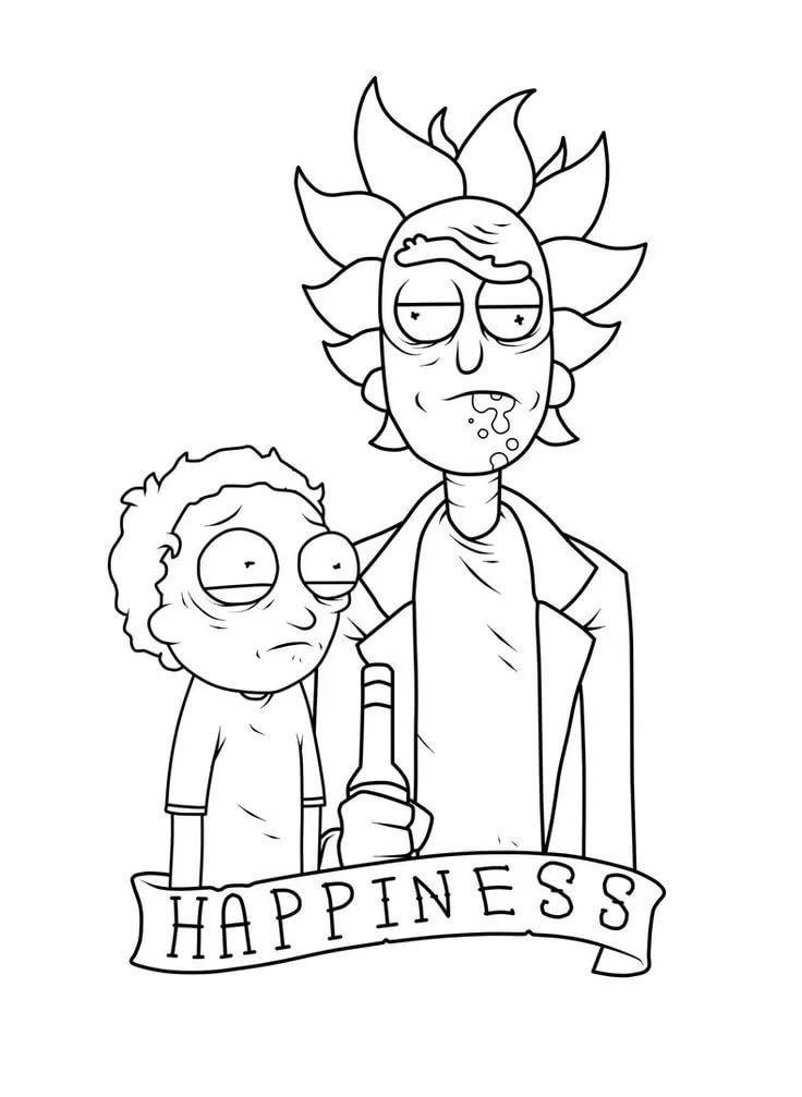 Эскиз тату Рик и Морти (15)