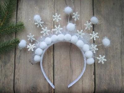 Канзаши новогодняя корона (11)