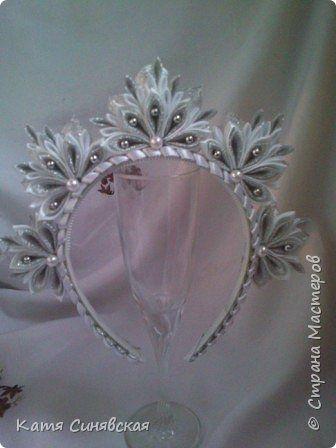 Канзаши новогодняя корона (15)