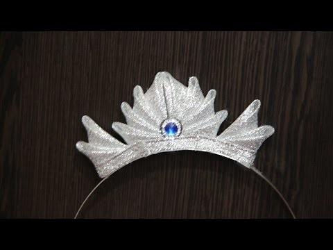 Канзаши новогодняя корона (16)