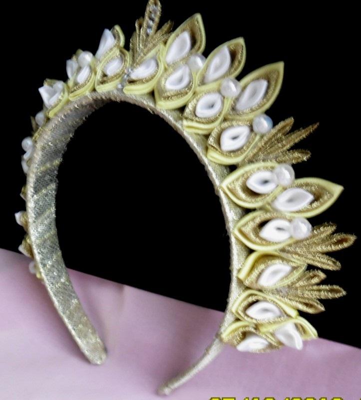 Канзаши новогодняя корона (19)