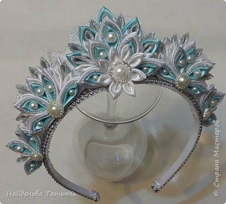 Канзаши новогодняя корона (3)