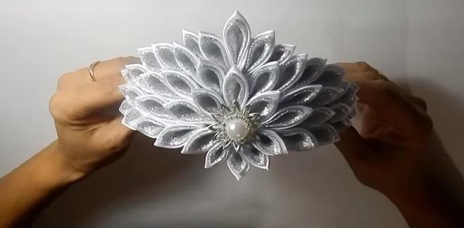 Канзаши новогодняя корона (8)