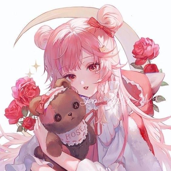 Картинки милых девушек аниме на аву (15)