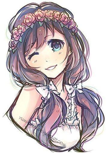 Картинки милых девушек аниме на аву (18)