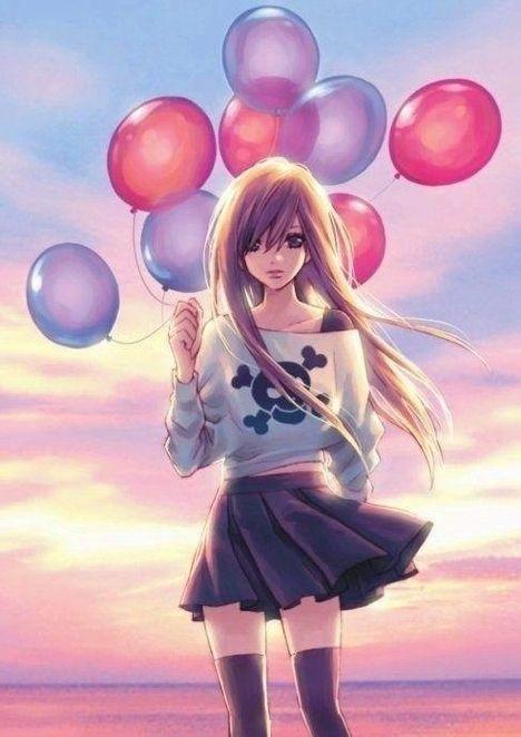 Картинки милых девушек аниме на аву (21)