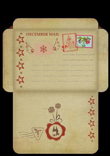 Картинки новогодний конверт шаблон (7)