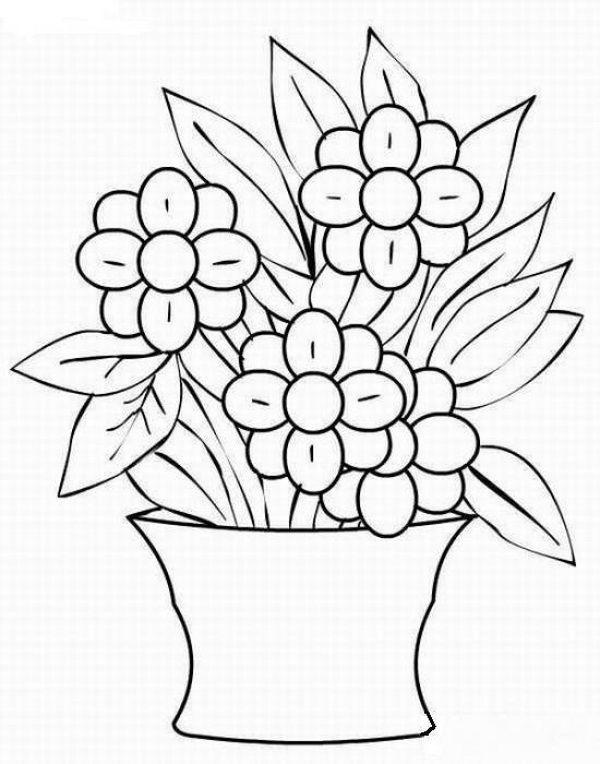 Картинки шаблон вазы для цветов (1)