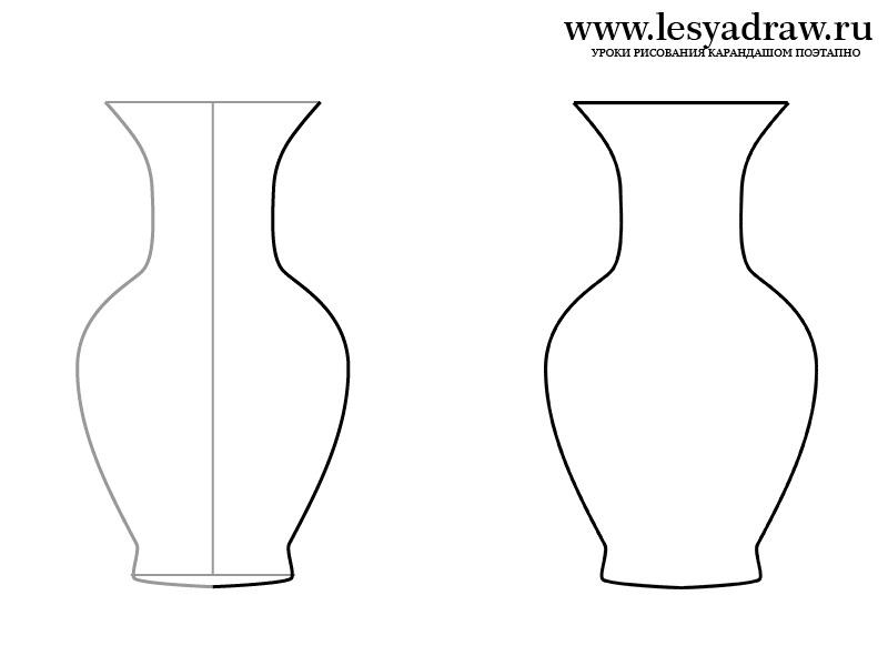 Картинки шаблон вазы для цветов (10)