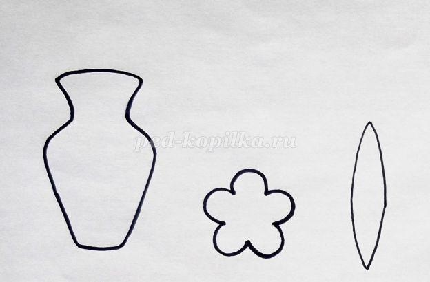 Картинки шаблон вазы для цветов (11)
