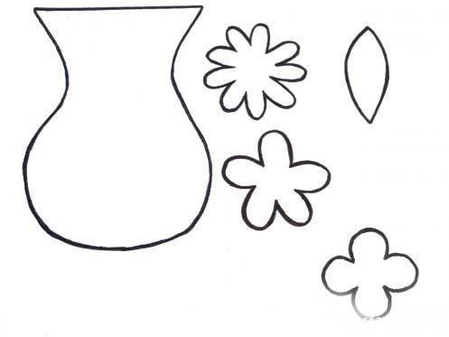 Картинки шаблон вазы для цветов (19)