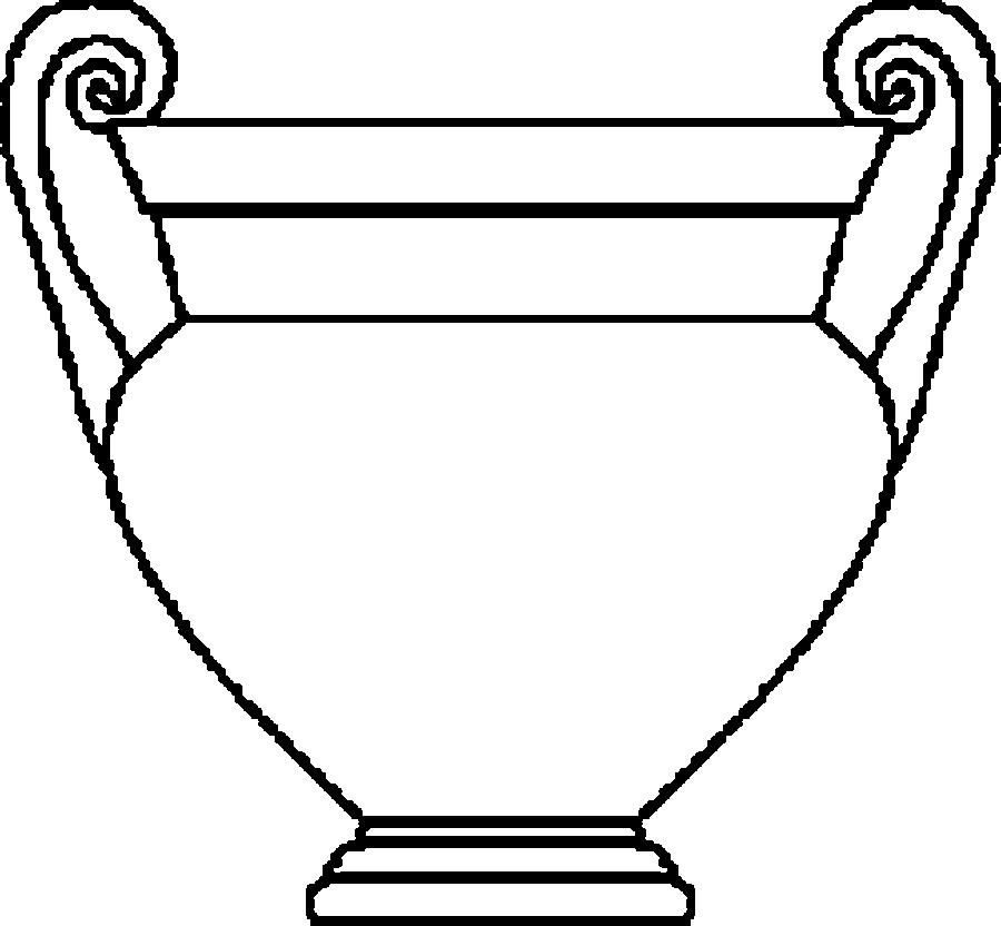 Картинки шаблон вазы для цветов (2)