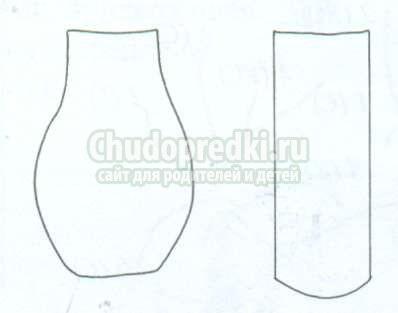 Картинки шаблон вазы для цветов (27)