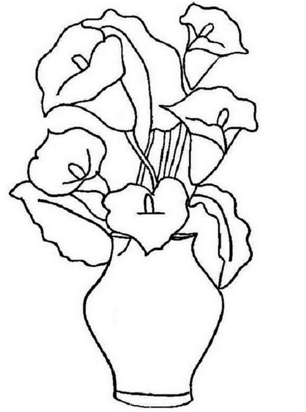 Картинки шаблон вазы для цветов (3)
