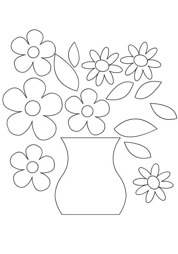 Картинки шаблон вазы для цветов (5)