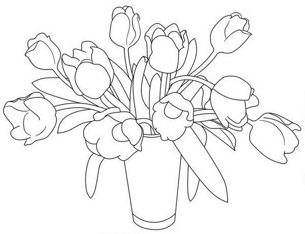 Картинки шаблон вазы для цветов (6)
