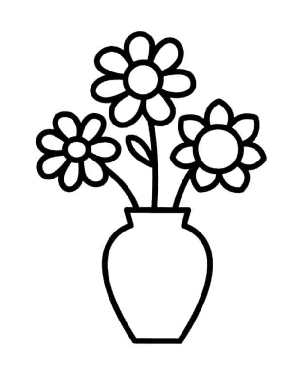 Картинки шаблон вазы для цветов (8)