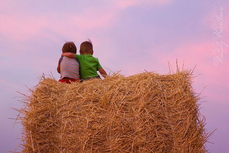 Красивая фотосессия на сене в поле (9)
