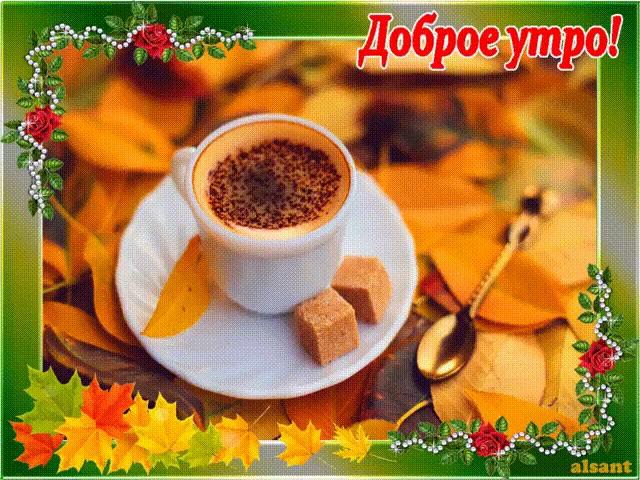 Красивые картинки с добрым утром осень (25)