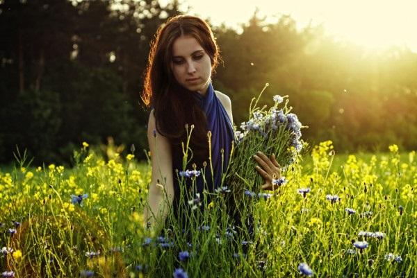 Красивые картинки цветы силуэт (13)