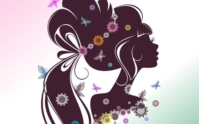 Красивые картинки цветы силуэт (14)