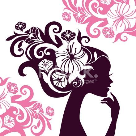 Красивые картинки цветы силуэт (16)