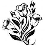 Красивые картинки цветы силуэт