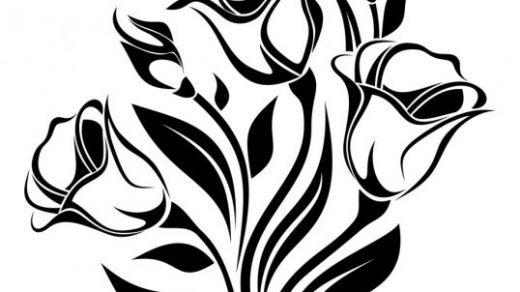 Красивые картинки цветы силуэт (17)