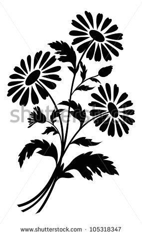 Красивые картинки цветы силуэт (3)