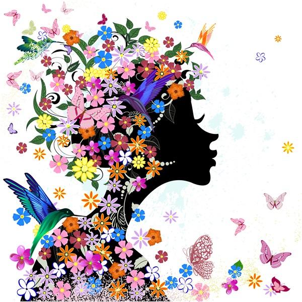 Красивые картинки цветы силуэт (9)