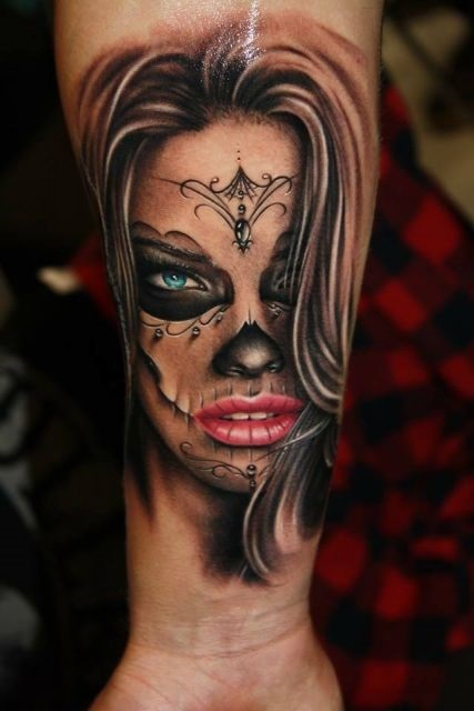Красивые мексиканские татуировки (16)