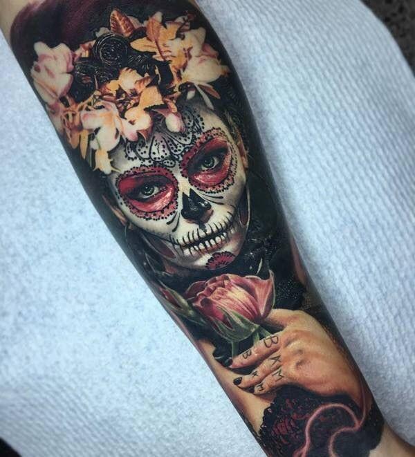 Красивые мексиканские татуировки (26)