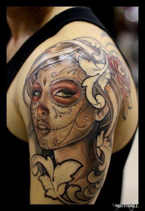 Красивые мексиканские татуировки (5)