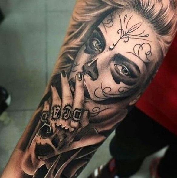 Красивые мексиканские татуировки (6)