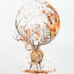 Красивые рисунки для срисовки олень