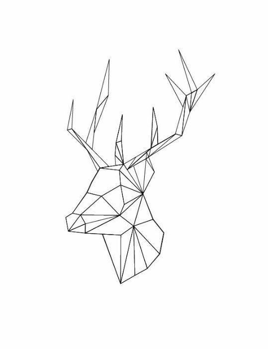 Красивые рисунки для срисовки олень (15)