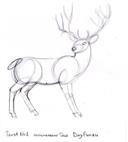 Красивые рисунки для срисовки олень (17)