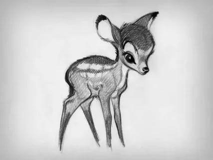 Красивые рисунки для срисовки олень (18)