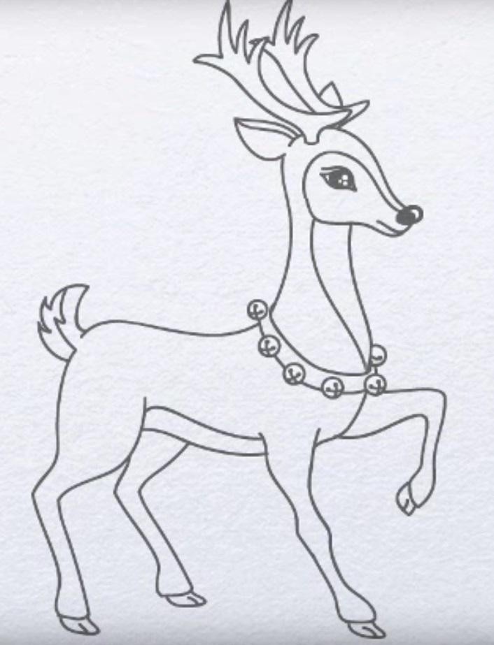 Красивые рисунки для срисовки олень (19)