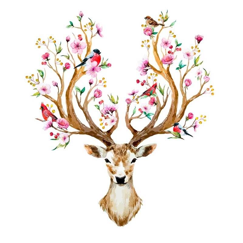 Красивые рисунки для срисовки олень (20)