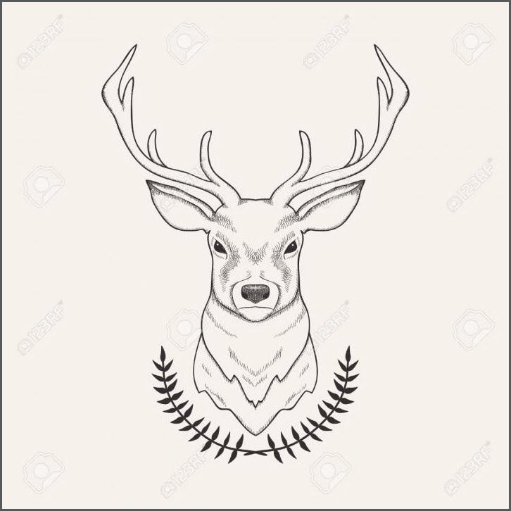 Красивые рисунки для срисовки олень (26)