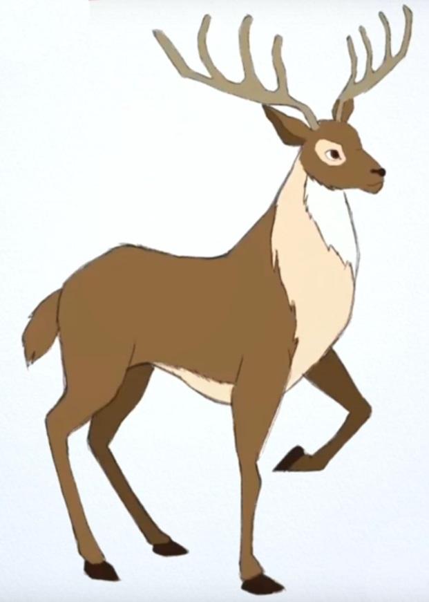 Красивые рисунки для срисовки олень (4)