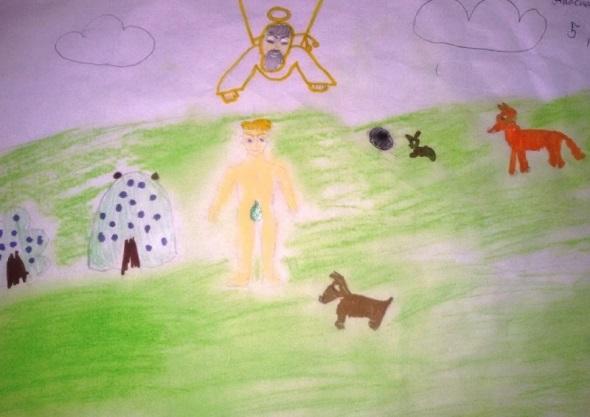 Красивые рисунки сотворение мира (10)