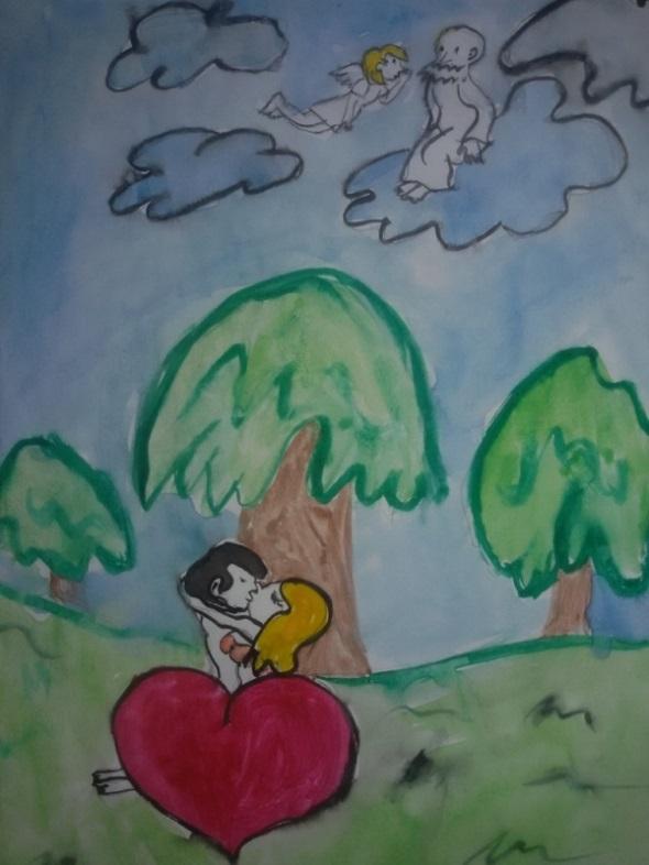 Красивые рисунки сотворение мира (22)