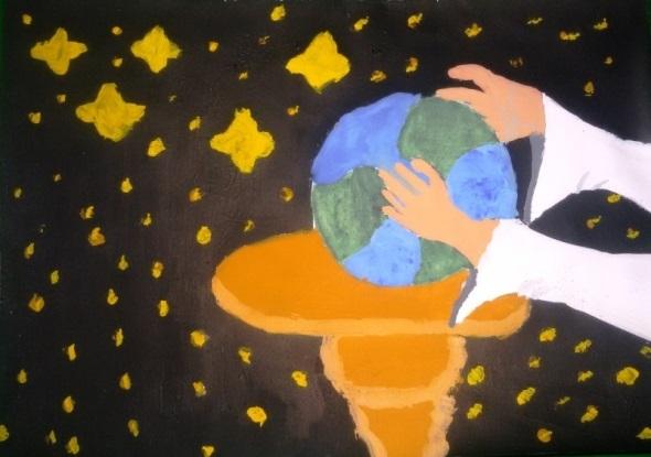 Красивые рисунки сотворение мира (9)