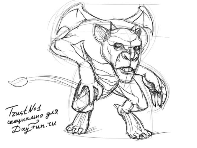 Лучшие рисунки для срисовки монстры (2)