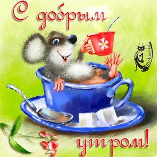 Мерцающие открытки с добрым утром и хорошим днем (25)