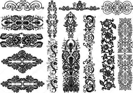 Орнаменты в полосе картинки (18)