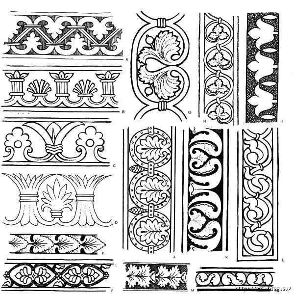 Орнаменты в полосе картинки (6)