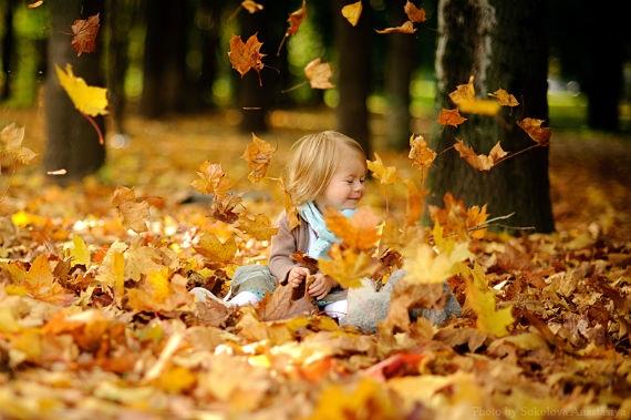Осенняя фотография ребенка (7)